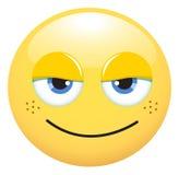 fräknig smiley Royaltyfri Bild
