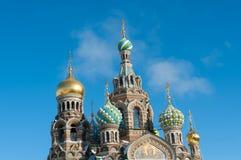 Frälsaren på blodkyrkan St Petersburg, Ryssland Arkivbild