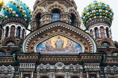 Frälsaren på Spilled blod är den ortodoxa kyrkan i St Petersburg Royaltyfri Fotografi