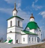 FrälsarePreobrazheniyas kyrka i Preobrazhenka Arkivbilder