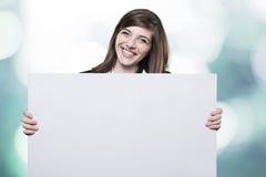 Främja för ung flicka Arkivbild