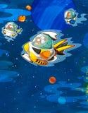 Främlingämnet - ufo - stjärna - dagis - meny - skärm - utrymme för lyckligt och roligt lynne för text - - illustration för chilen Fotografering för Bildbyråer