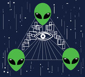 Främling Illuminati Arkivfoto