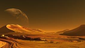 Främling   planet Arkivbilder