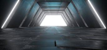 Främling Sci Fi modernt futuristiskt Minimalist tomt mörkt konkret Co royaltyfri bild