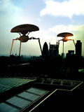 främlingar london Arkivfoto