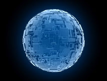 främlingen arrangemen den globala bluekubfantasin Arkivfoton