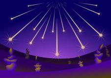 främmande asteroidsfallplanet Royaltyfri Foto