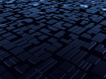 främmande blå konstruktionsfantasi Fotografering för Bildbyråer