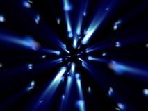 främmande blåa fantasipartiklar skiner Royaltyfria Bilder