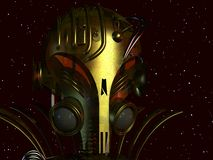främmande cyborg royaltyfri foto