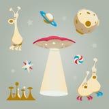 främmande element stock illustrationer
