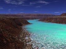 Främmande fjord Arkivfoton