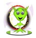 främmande grön surfingbräda stock illustrationer