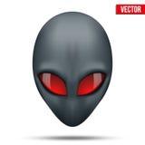 Främmande head varelse från en annan värld vektor Arkivbild