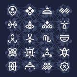 Främmande hieroglyf Royaltyfri Foto