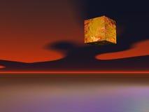 främmande kub stock illustrationer