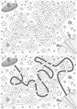 Främmande labyrint Arkivbild
