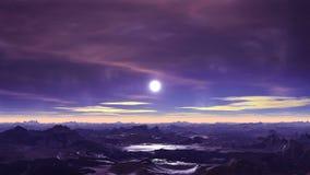 Främmande Moonrise lager videofilmer