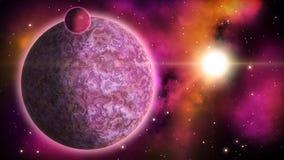 Främmande planet ögla royaltyfri illustrationer