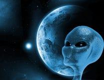 Främmande planet Arkivbilder