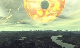 främmande planet Royaltyfri Foto