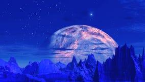 Främmande planet och ufo vektor illustrationer