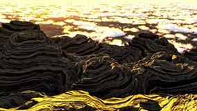 Främmande planetlandskap royaltyfria foton