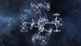 Främmande rymdskepp i interstellärt lopp vektor illustrationer