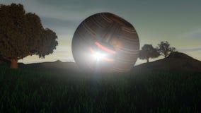 Främmande rymdskeppufobegrepp Royaltyfria Bilder