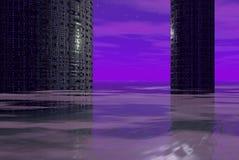 främmande skyskrapor Fotografering för Bildbyråer