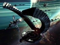 främmande spaceship Royaltyfria Bilder