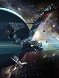 främmande spaceship Arkivfoton