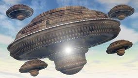 Främmande ufo Arkivbilder