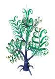 främmande växt för tolkning 3D på vit royaltyfri illustrationer