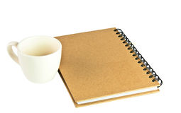 främre anteckningsbokpapper för räkning Arkivbild