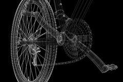 främre bergsikt för cykel Royaltyfri Foto