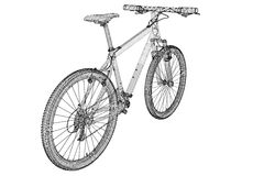 främre bergsikt för cykel Arkivbilder