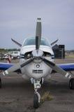 Främre del av litet ljust flygplan Royaltyfria Bilder