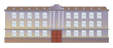 Främre fasad för institution Royaltyfria Foton