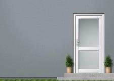 främre grått hus Arkivbilder