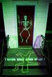främre halloween husfarstubro Fotografering för Bildbyråer