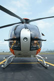 främre helikoptersikt Arkivfoton