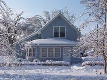 främre home vinter Arkivbild