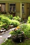främre husgård Arkivfoto