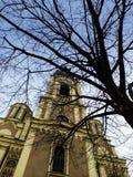 Främre huvudsakligt torn av den Ortodox domkyrkan Royaltyfri Fotografi
