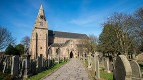 Främre ingång till domkyrkan för ` s för St Machar i Aberdeen Arkivfoton