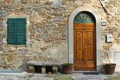 främre italiensk tappning för dörr Royaltyfri Foto