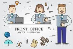 Främre kontor Gör linjen symbol tunnare vektor vektor illustrationer