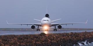 främre lane för flygplan Arkivfoto